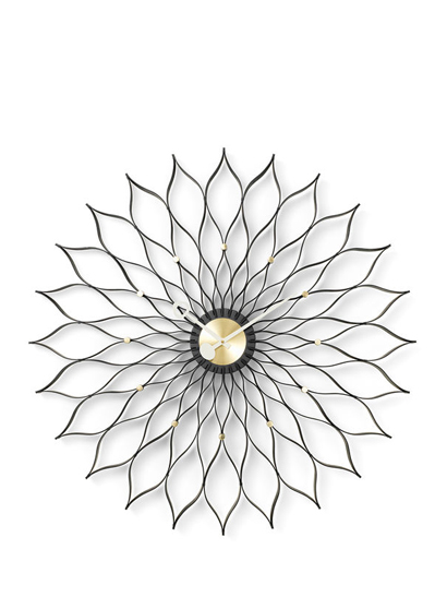 Vitra - Wall Clocks - Sunflower Clock schwarz/messing